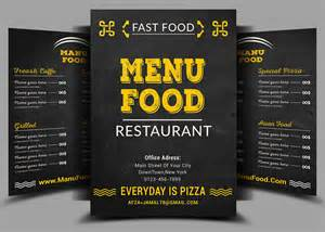 fast food menu flyer design psd