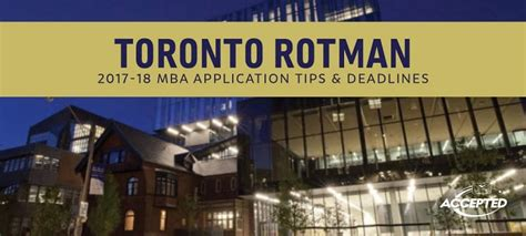 Bc Mba Known For by Toronto Rotman Mba Essay Tips Deadlines The Gmat Club