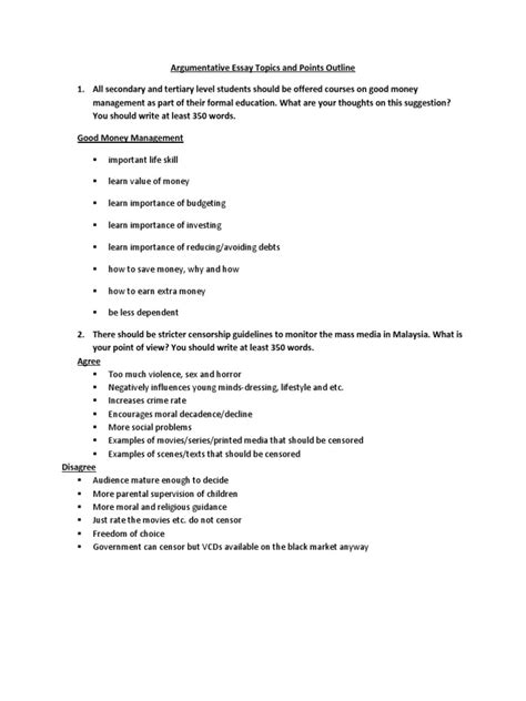 Mass Media Topics For Essays by Muet Argumentative Essay Topics And Points Outline Mass Media