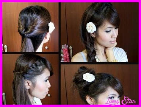 easy hairstyles for hair for school step by step easy hairstyles for hair school step by
