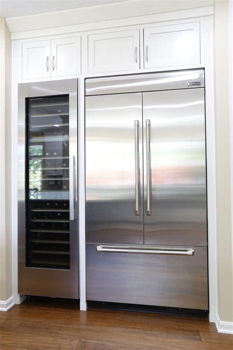 built in cabinet wine refrigerators jenn air 42 integrated built in french door refrigerator
