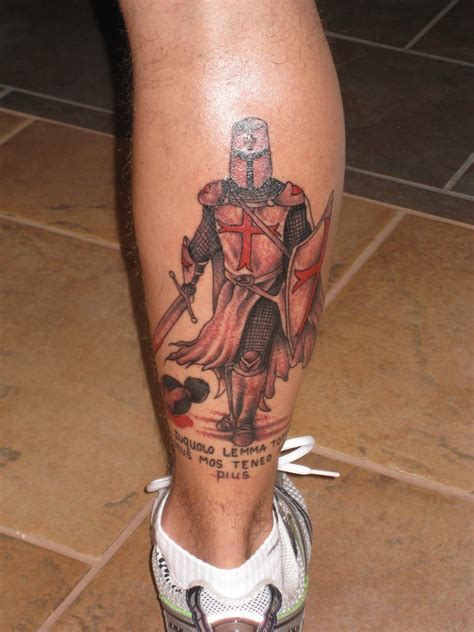 templar knight tattoo tats pinterest