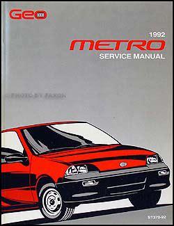 1992 geo metro repair shop manual original