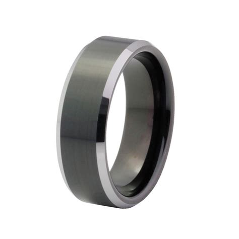 comfort fit tungsten wedding bands men s wedding band tungsten carbide 8mm comfort fit black