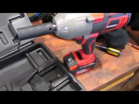 earthquake xt cordless impact review harbor freight earthquake xt 20v cordless impact youtube
