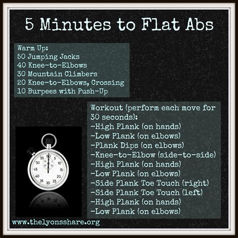 5 minutes to flat abs workout