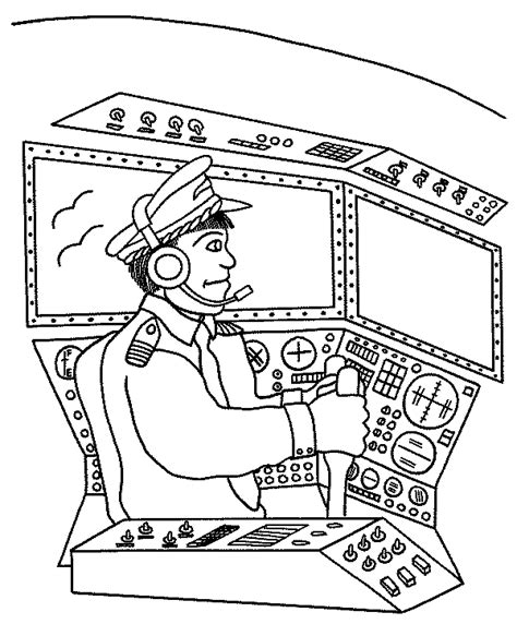 coloring pages airplane pilot pilot coloring page airplanes preschool pinterest