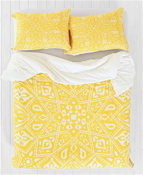 yellow pattern quilt cover yellow bedding decor by color