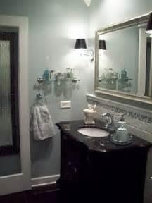 Small bathroom makeover spa blue