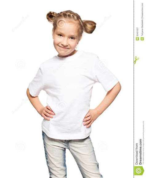 Child T Shirt child in white t shirt royalty free stock photography