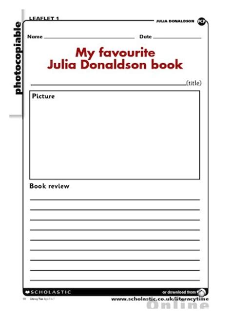 book template ks1 my favourite donaldson book free primary ks1