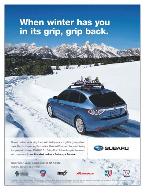 subaru winter 38 best images about winter advertisements on pinterest