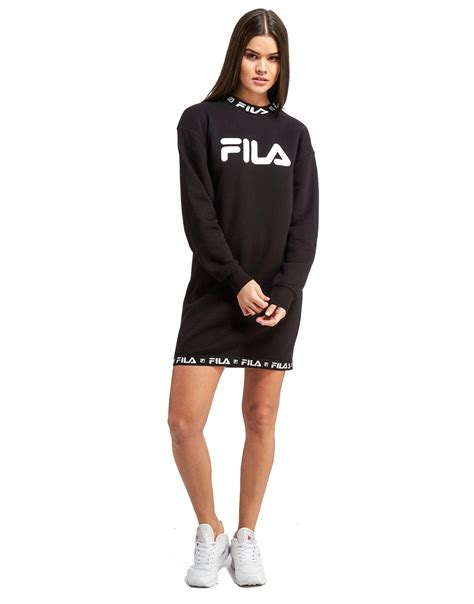 lyst fila sweater dress in black