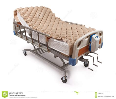 hospital bed  air mattress clipping path stock