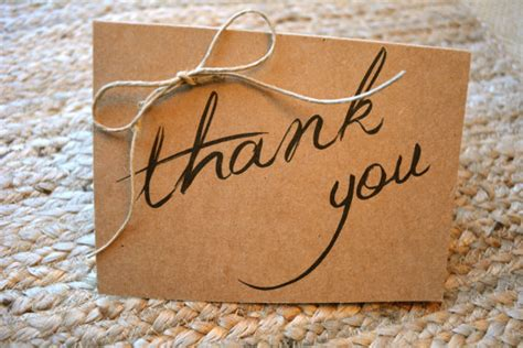 easy thank you card template 10 rustic thank you cards free sle exle format
