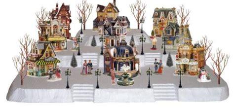 miniature mountain village platform lemax 3 tier two display platform 6 steps