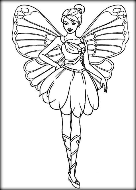 Disney Barbie Mariposa Coloring Pages Color Zini