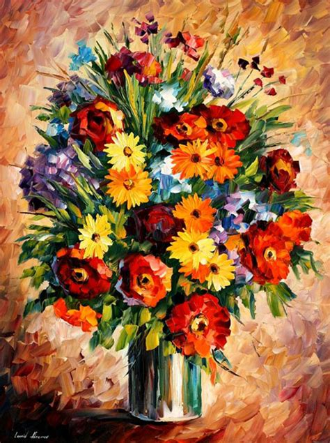 paintings of flowers frames and colors amazing flower paintings by leonid afremov