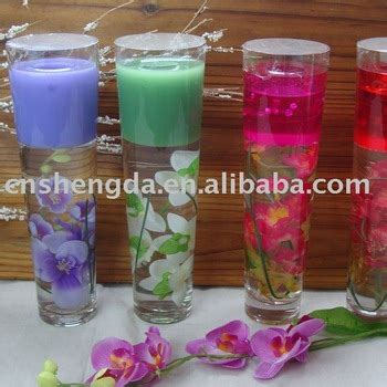 candele in gel home decoration gel candle glass candle holder jelly