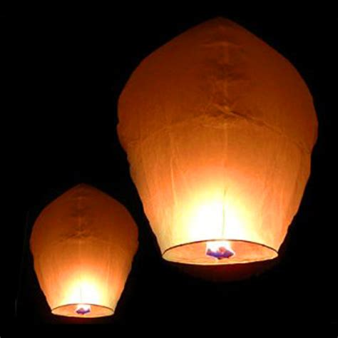 Paper Lanterns That Fly - 50 white paper lanterns sky fly candle l for