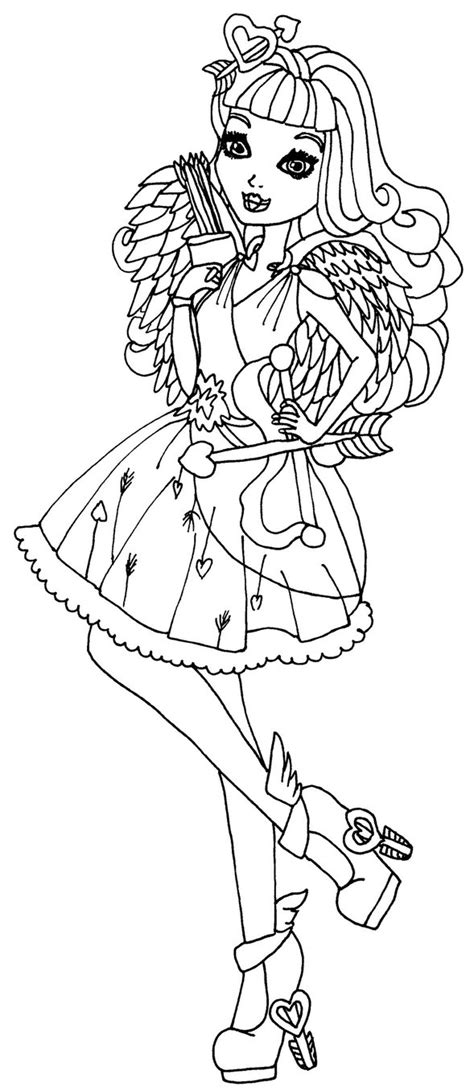 ever after high coloring pages by elfkena ever after high cupid by elfkena on deviantart