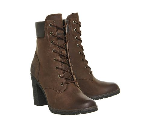 6 inch boots lyst timberland glancy 6 inch heel boots in brown