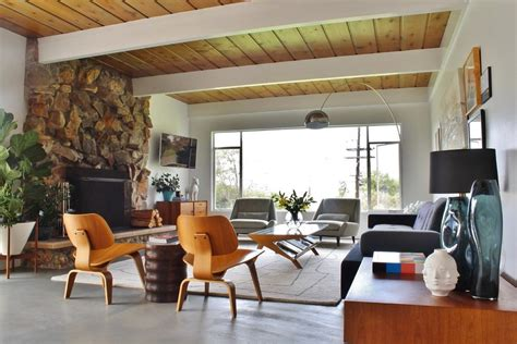 millers mid century modern living los angeles herman miller knock living room midcentury with gallery wall synthetic area rugs eames