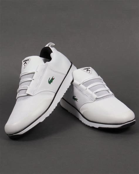 lacoste light sneakers lacoste light trainers white black running shoes sneakers mens