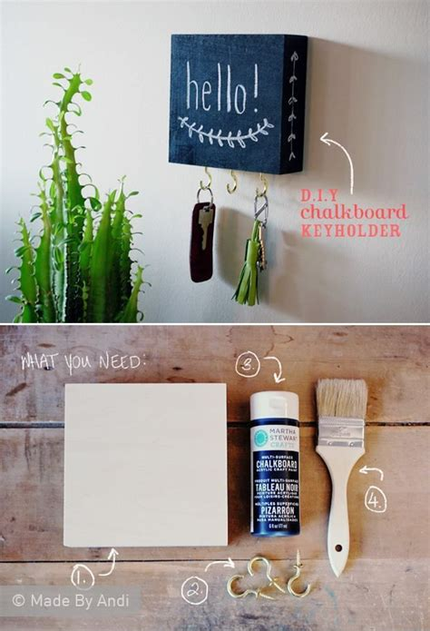 diy chalkboard holder best 25 diy key holder ideas on toilet roll