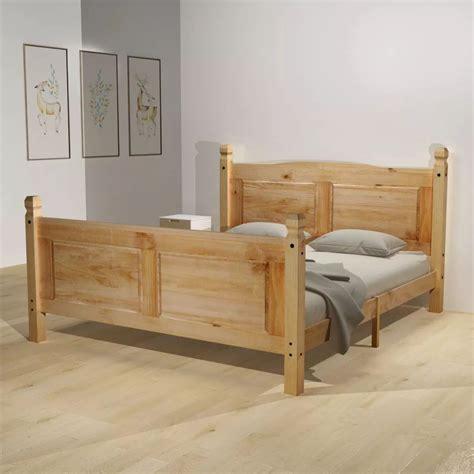 letto matrimoniale 140x200 letto matrimoniale 140x200 in legno di pino naturale con