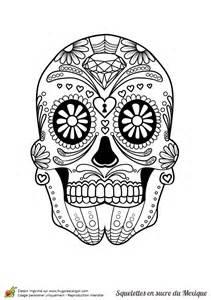 Coloriage Cr 226 Ne En Sucre Mexicain C Ur Et Bijoux