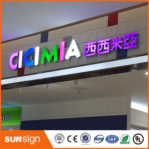 Outdoor Lighted Signs For Business Waterproof Advertising Outdoor Business Signs Price Epoxy Resin Led Channel Letters In