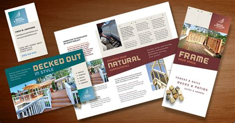 Build Quality Marketing Materials For A Decks Fencing Company Stocklayouts Blog Fencing Business Plan Template