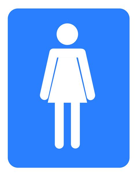female comfort room signage clipart women bathroom