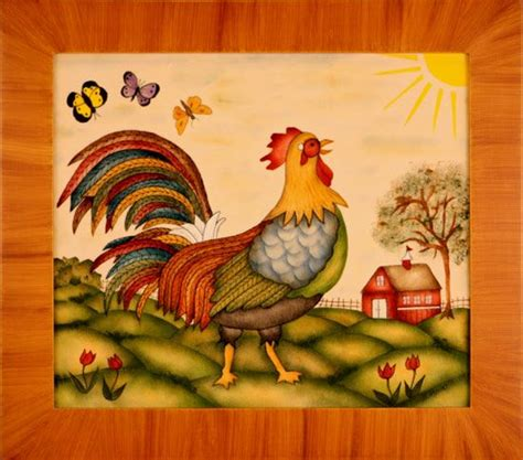 17 Best Images About Tole Painted Crafts And 17 Best Images About Rooster Crafts On Folk