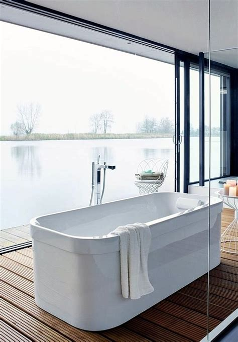 freestanding bathtub in modern bathroom interior design