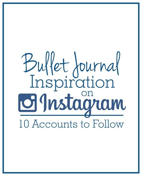 Instagram Find To Follow Bullet Journal Inspiration 10 Instagram Accounts To Follow Krafty Owl