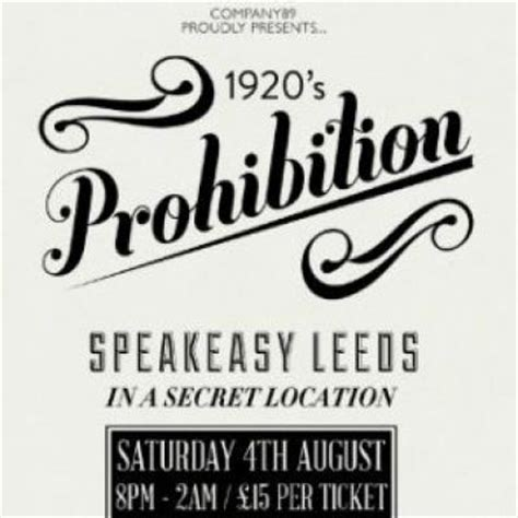 Bank Letter Leeds Speakeasy Leeds 1920 S Prohibition At Vox Quot Speakeasy Meets Modern Elegance Quot