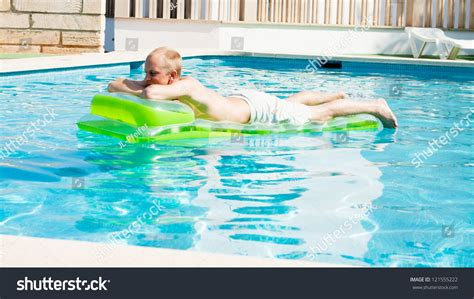 Mattress In Pool by Swimming Air Mattress Pool Stock Photo 121555222
