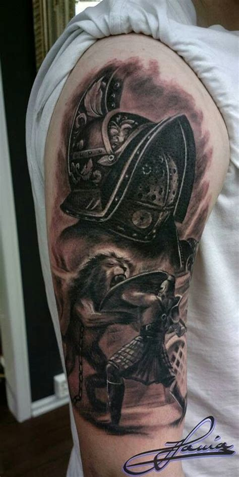 gladiator armor tattoo gladiator ideas gladiators