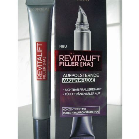 Loreal Filler test augenpflege l or 201 al revitalift filler ha