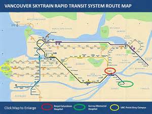 vancouver skytrain canada line map this map shows the vancouver skytrain rapid transit system