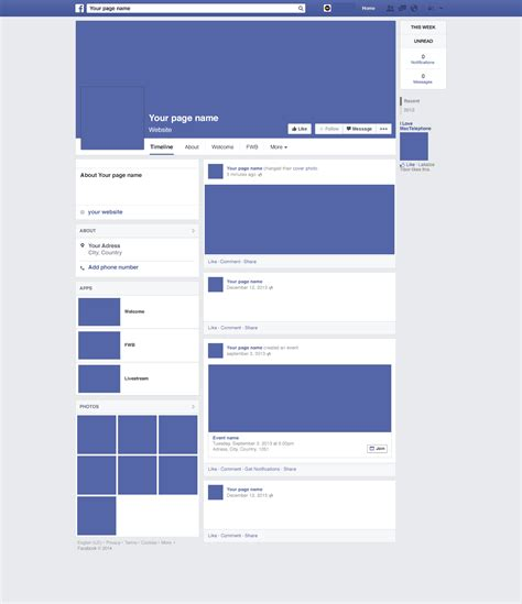 facebook layout template vector free blank facebook template word pdf facebook