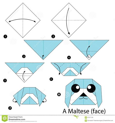 How To Make A Paper Animal - step by step how to make origami a stock