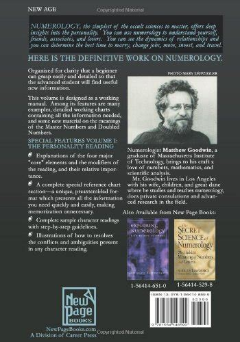 libro the numerology of the libro numerology the complete guide the personality reading 1 di matthew oliver goodwin