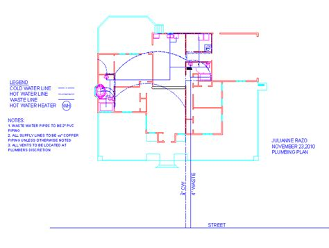 plumbing plan building science house