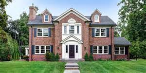 colonial brick homes classic scarsdale brick colonial
