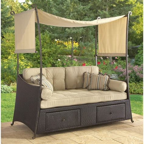 patio day bed kar woven daybed lounge 138445 patio furniture at