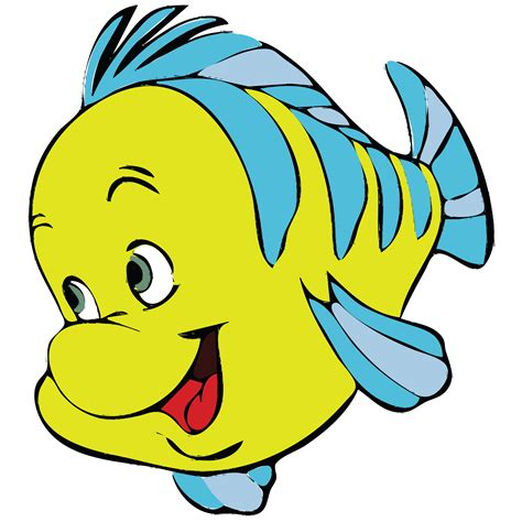 fish clipart free clipart of a fish from mermaid flounder