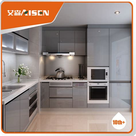 High Gloss Grey Kitchen Cabinets Popular For The Market High Gloss Matt Grey Lacquer Kitchen Cabinet Buy Small Kitchen Lacquer